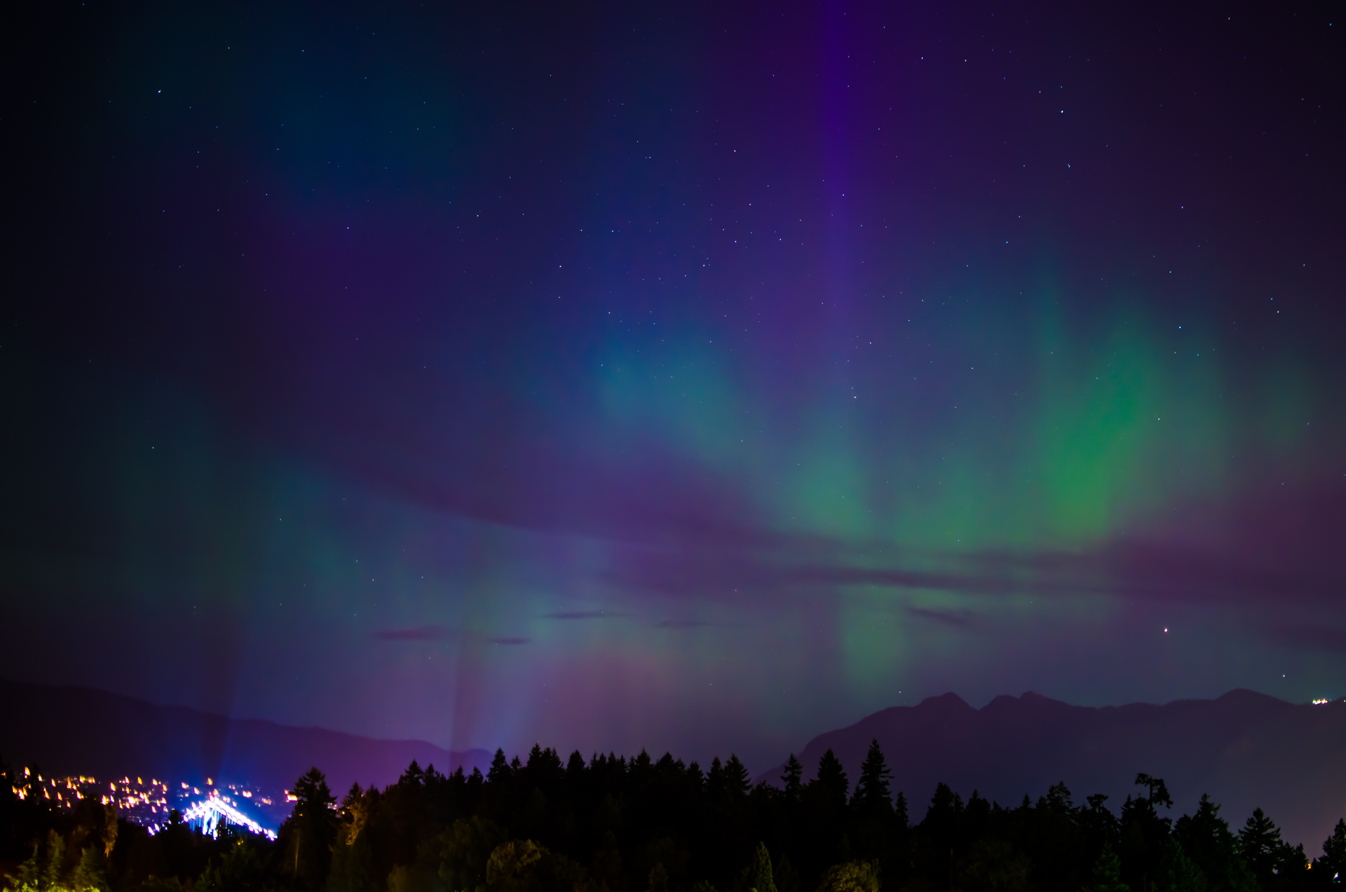 Aurora Borealis from Vancouver Take II